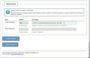 Custom Web Form - Adjustment Info Here