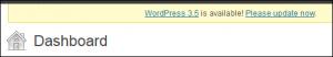 The WordPress Dashboard Update Nag