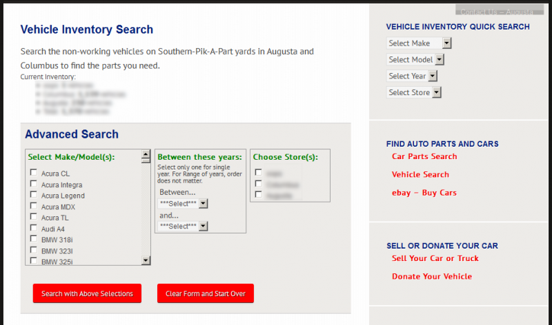 Custom search form for WordPress Web site Web application