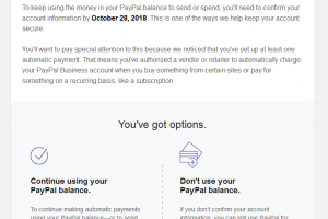 PayPal Phishing Scam Alert Oct 11, 2018