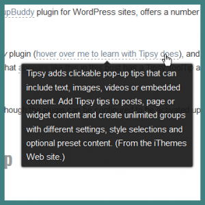 Tipsy WordPress Plugin from iThemes