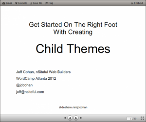 Child Themes – WordCamp ATL 2012 Presentation