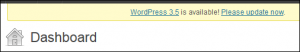 The WordPress Dashboard Update Nag